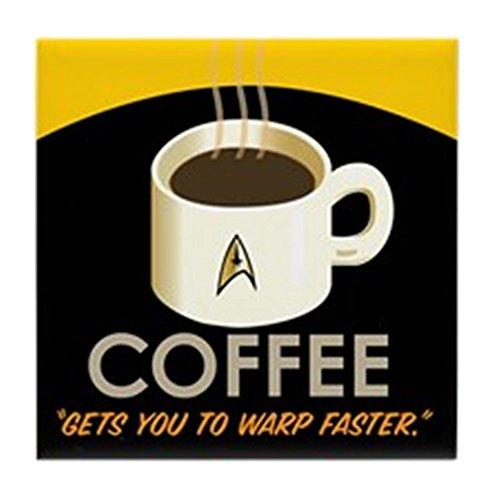 CafePress Untersetzer in Fliesenform mit Star-Trek-Motiv