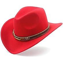 Amazon.it  cappello cowboy - Rosso 18274d966c62