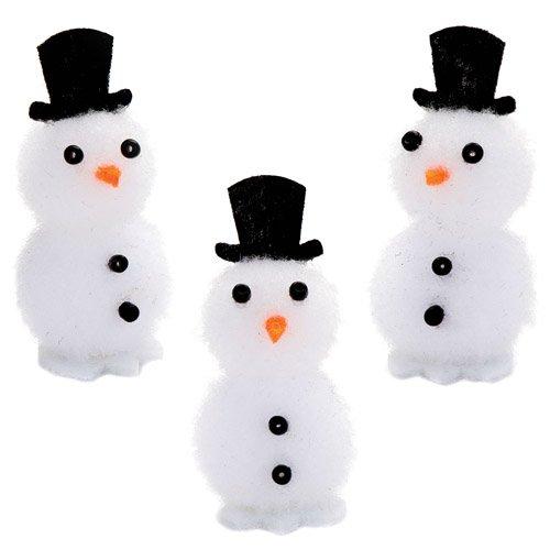 Baker Ross Mini-Pompon-Schneemänner als lustiges weihnachtliches Spielzeug zum günstigen Preis - perfekt als kleine Party-Überraschung für Kinder (8 Stück)