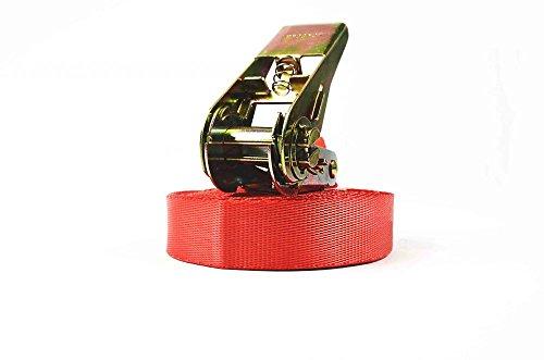 Preisvergleich Produktbild Zurrgurt 8m,  Gurtbreite von 25mm,  LC 250 / 500 daN,  einteiliger Spanngurt 8m,  inklusive normaler Ratsche