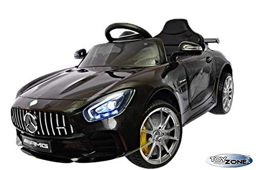 ToyZone Kinderfahrzeug 12V Kinderauto Kinder Elektro Auto Mercedes GTR AMG MP3 USB Ledersitz Eva Gummiräder 2,4 GHZ