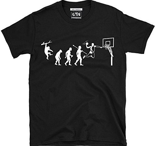 6TN evolución de Baloncesto Camiseta - Negro, X-Large