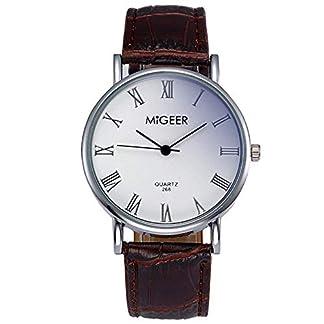 MJARTORIA-Damen-Herren-Armbanduhr-Business-Stil-Analog-Quarz-Damenuhr-Rmische-Ziffern-Lederarmband-Braun-24cm