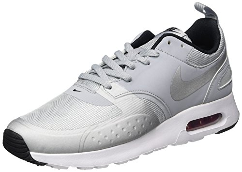 Nike Men's Air Max Vision PRM Trainers, (Wolf GreyMetallic Silver Varsity Red Black), 10 UK 45 EU