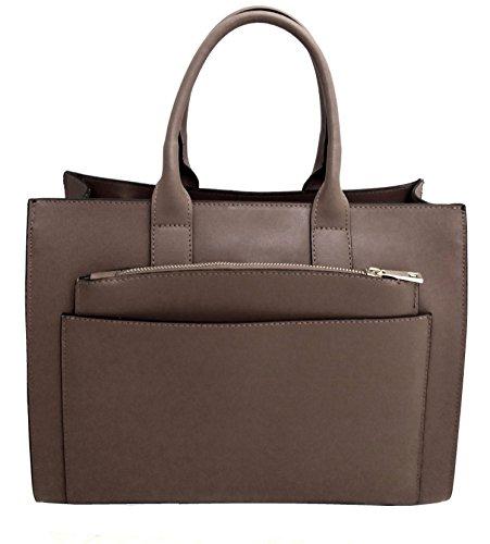 Borsa DEEP ROSE in Vera Pelle Donna Made in Italy a spalla mano shopper pelle con tracolla regolabile modello CRISTINE capiente borsa da giorno