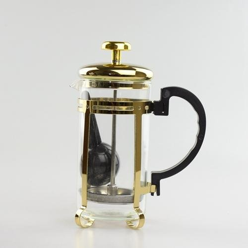 HITSAN 2017 Real New Arrival Diy Stocked Eco Friendly Fda Lfgb French Presses Eco Coffee French Press Slivery Gold Plunger Makers Gold