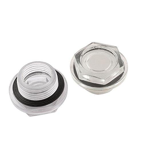 26° mm Durchmesser, Kompressor-Öl Liquid Schauglas, 2 Stück