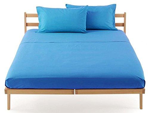 Lenzuolo sotto con angoli zucchi clic clac percalle di puro cotone letto singolo una piazza cm 90 x 200 100% made in italy (caraibico - 3359)