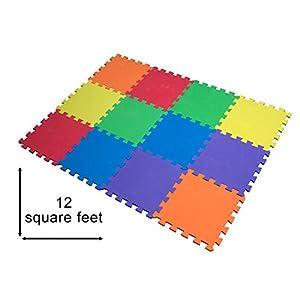 12 St. Puzzlematte Baby, Spielmatte Puzzle, Schaumstoffmatte schadstofffrei für Baby Puzzleteppich Steckmatte…