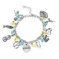 Gcroet 1PC Premium Quality Movie Bracelet Riverdale Keychain Bracelet Bangle Keychain TV Merchandise Keyring