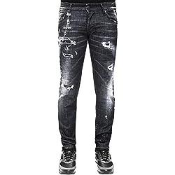 Dsquared2 Regular Clement Skinny fit Destroyed - Distressed Denim Jeans (IT52 (34-35))
