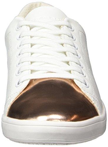 Tamaris 23665, Baskets Basses Femme Blanc (WHITE/COPPER 050)