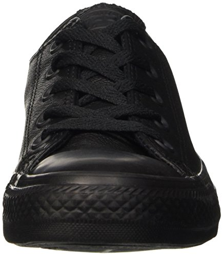 Converse All Star Ox Leather, Scarpe da Ginnastica Unisex – Adulto Nero (Black)