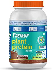 FAST&UP Plant Protein - Plant Based - Vegan - 34 G Plant Protein - Post Workout - 30 Servings - Chocolate
