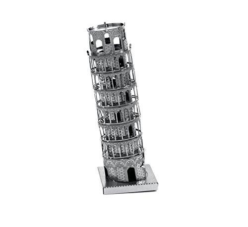 Fascinations Metal Earth MMS046 - 502562, Schiefer Turm von Pisa, Konstruktionsspielzeug, 1 Metallplatine, ab 14 Jahren