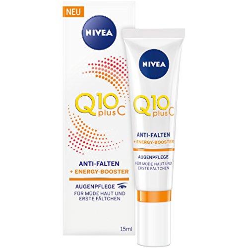 Nivea Q10 Plus C Anti-Falten Augenpflege, 1er Pack (1 x 15 ml), für müde Haut und erste Fältchen