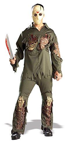 Jason Voorhees Deluxe Kostüm für Erwachsene Gr. STD, Größe:L