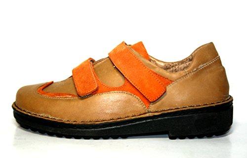 Naot , Chaussures de ville à lacets pour femme beige Braun (toffee/cocoa/combinat) 41 Beige/Orange