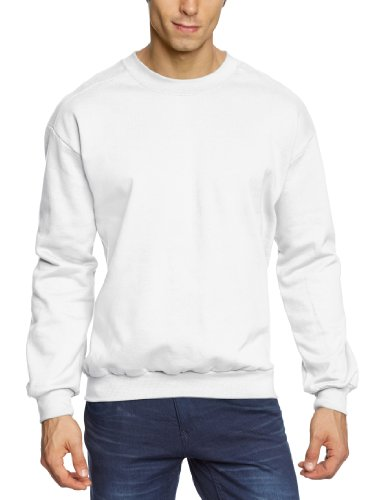 anvil Herren Sweatshirt / 71000, Gr. 46 (S), Weiß (WHT-White) (Crew Sweatshirt)