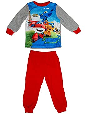 Super Wings Jungen Polar Fleece Schlafanzug lang