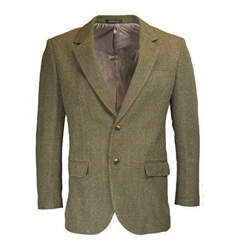 97b7231722 Walker & Hawkes - Mens Classic Windsor Tweed Country Blazer Jacket - Dark  SAGE - 54