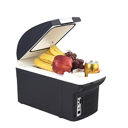 Auto Kühlschrank, 12 V/220 V Camping tragbare Reise Kühlschrank 8 Liter Kühler wärmer Heizung elektrische Multifunktions-Gefrierschrank - schwarz -
