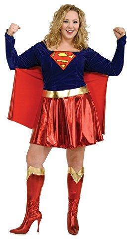 Plus Größe Kostüm Womens Super - Supergirl Kostüm für Damen, Größe:XL