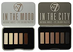 W7 In The City & In The Mood Natural Nudes Eye Shadow Palette Set by W&