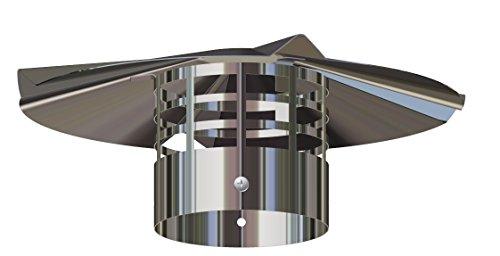 Comptes–Terminale échappement Gaine vertical inoxydable D. 80–pour chaudière–cntterm08ia
