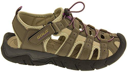 Gola ALP209 Réglables Velcro Sport Randonnées Sandales Femmes Taupe