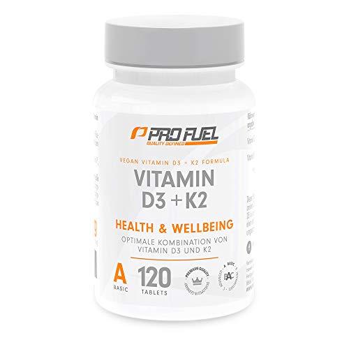 VITAMIN D3 • 5000 I.E. + K2 (MK7) • 200 mcg | 19 Monatspackung | Pflanzlich & 100% vegan | Made in Germany