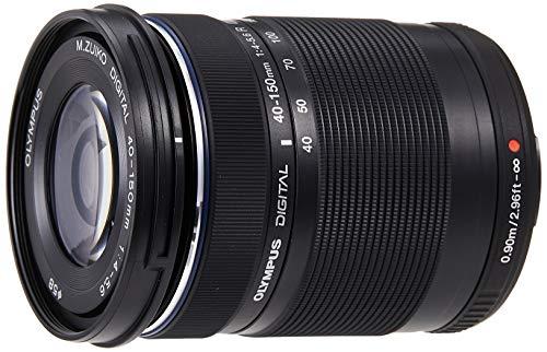 Olympus M.Zuiko Digital ED 40-150mm F4‑5.6 Objektiv (Telezoom, geeignet für alle MFT-Kameras, Olympus OM-D und PEN Modelle, Panasonic G-Serie) schwarz