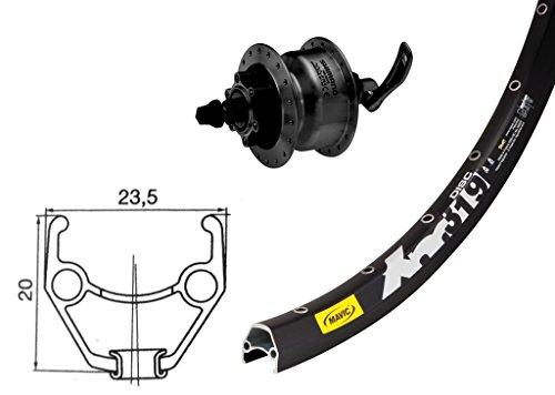 ridewill-bike-roue-avant-26-moyeu-dynamo-shimano-dh3d30-frein-disque-6-buchi-noir-qr-36-f-roues-dyna