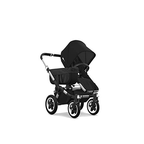 Bugaboo Donkey 2 Mono, 2 In 1 Pram and Pushchair, Extends Into Double Stroller, Black Bugaboo The Bugaboo stroller with the most storage space Extendable side luggage basket & large under-seat basket Convert into a double buggy for baby & toddler or a double pram for twins (extension sets sold separately) 2