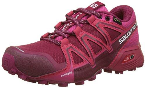 Salomon L40125600, Scarpe Femminili da Corsa e Trail Running Speedcross Vario 2 GTX, Sintetico/Tessile, Malva/Fucsia (Cerise/Beet Red/Pink Yarrow), Misura: 45