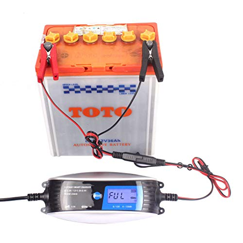 Cdrox 6V 12V 0.8A 4A Moto caricabatteria Automatico 7 Fase Intelligente EFB Impermeabile Gel AGM Wet caricabatteria Auto