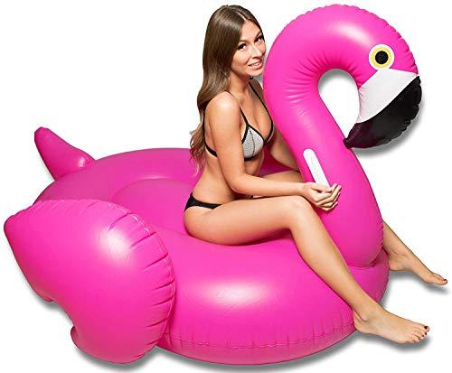 Hinchable Colchoneta Flamenco, Seguro y Estable Juguete Hinchable Flotante Gigante Flamingo, Extremadamente...