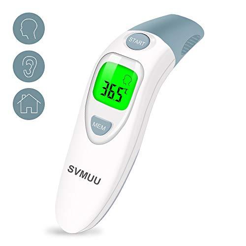 SVMUU 4-in-1 Fieberthermometer Infrarot Thermometer,Professionell für Babys und Erwachsene,EIN-Start-Knopf-Messung innerhalb von 1 Sekunde