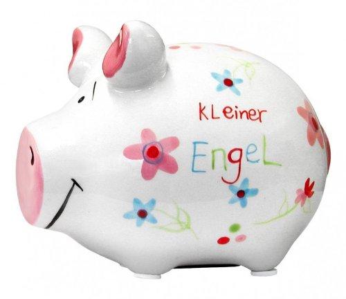 KCG Keramik Sparschwein Kleiner Engel ca. 12.5cm x 9cm Kleine Keramik