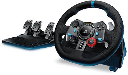 Logitech G29 -  Volante para simulación de carreras (compatible con PS4,  PS3 y PC) con pedales incluidos + Driving Force Shifter -  Palanca de cambios para volante