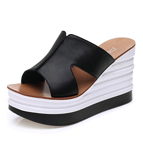 Ladies piattaforma tacco alto pantofole/torta spessa Sandals/infradito in estate B