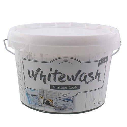Kreidefarbe für Holz Vintage Shabby Chic Antiklook White wash - weiss 1 Liter