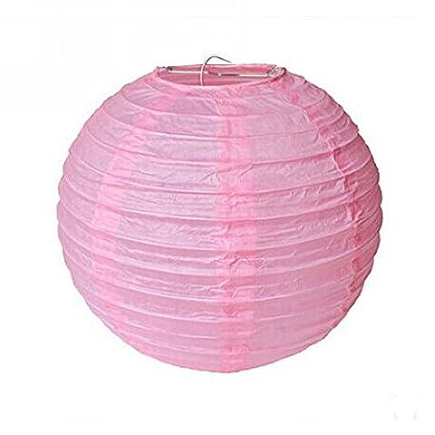 lot de 5 lanterne boule papier japonais pour décoration (rose, 10cm)