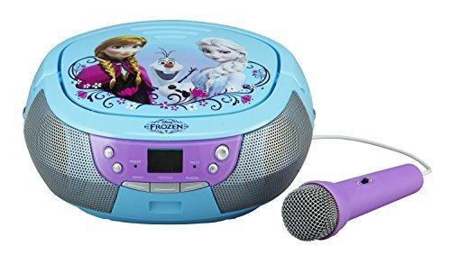 Reine des Neiges CD Boombox avec micro et radio AM / FM avec Anna, Elsa et Olaf par Disney Frozen