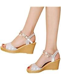Amazon.es  sandalias mujer verano 2018 - Botas   Zapatos para mujer ... bbb8403eb499
