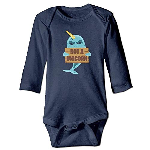 TOPDIY Not A Unicorn Narwhal Baby Girls Cotton Long Sleeves Clothes
