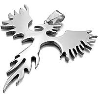 Kalendone Stainless Steel Phoenix Bird Firebird Necklace Phoenix Necklace - Phoenix Firebird