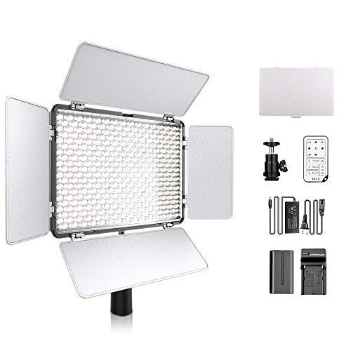 600 LED Dimmbare Ultra High Power Panel Camcorder Videoleuchte 3200K ~ 5600K mit Fernbedienung für Canon Nikon Sony Pentax Panasonic Sony Samsung und Olympus Digitale Spiegelreflexkameras Kameras
