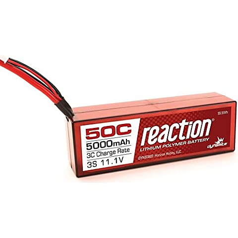 Dinamita reacción 11,1V 5000mAh 50C Lipo Hardcase Deans recargable