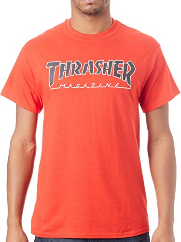 Thrasher t-shirt outlined rosso (s, rosso)